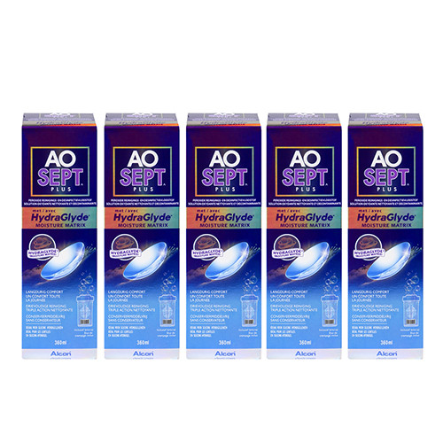 Aosept Plus HydraGlyde 5x360ml