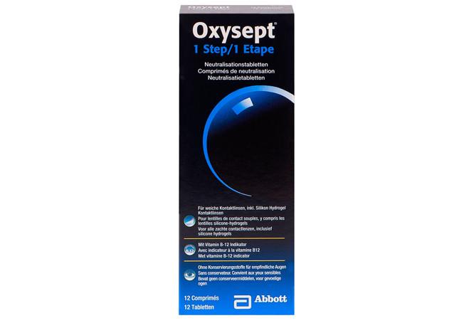 Oxysept 1 step neutralisation 12 stuks